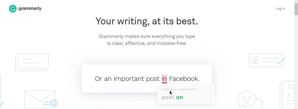 grammarly text editor home page