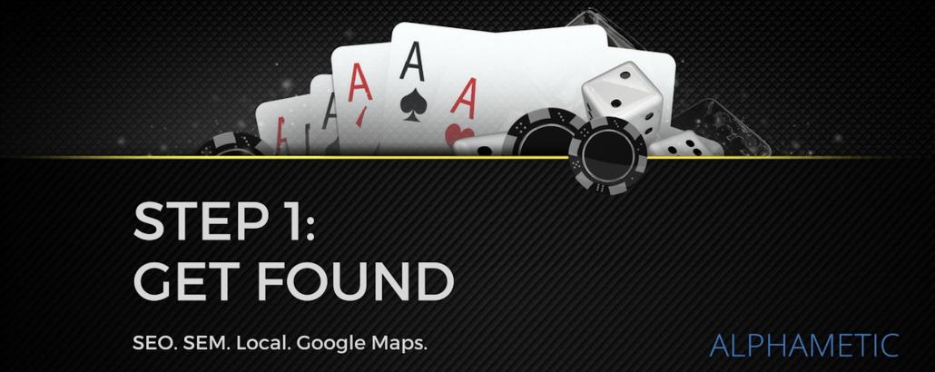 step 1 get found casino guide