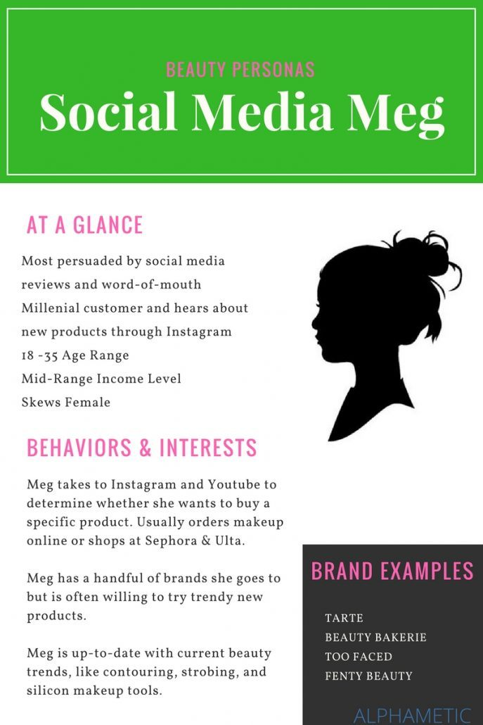 social media meg beauty persona