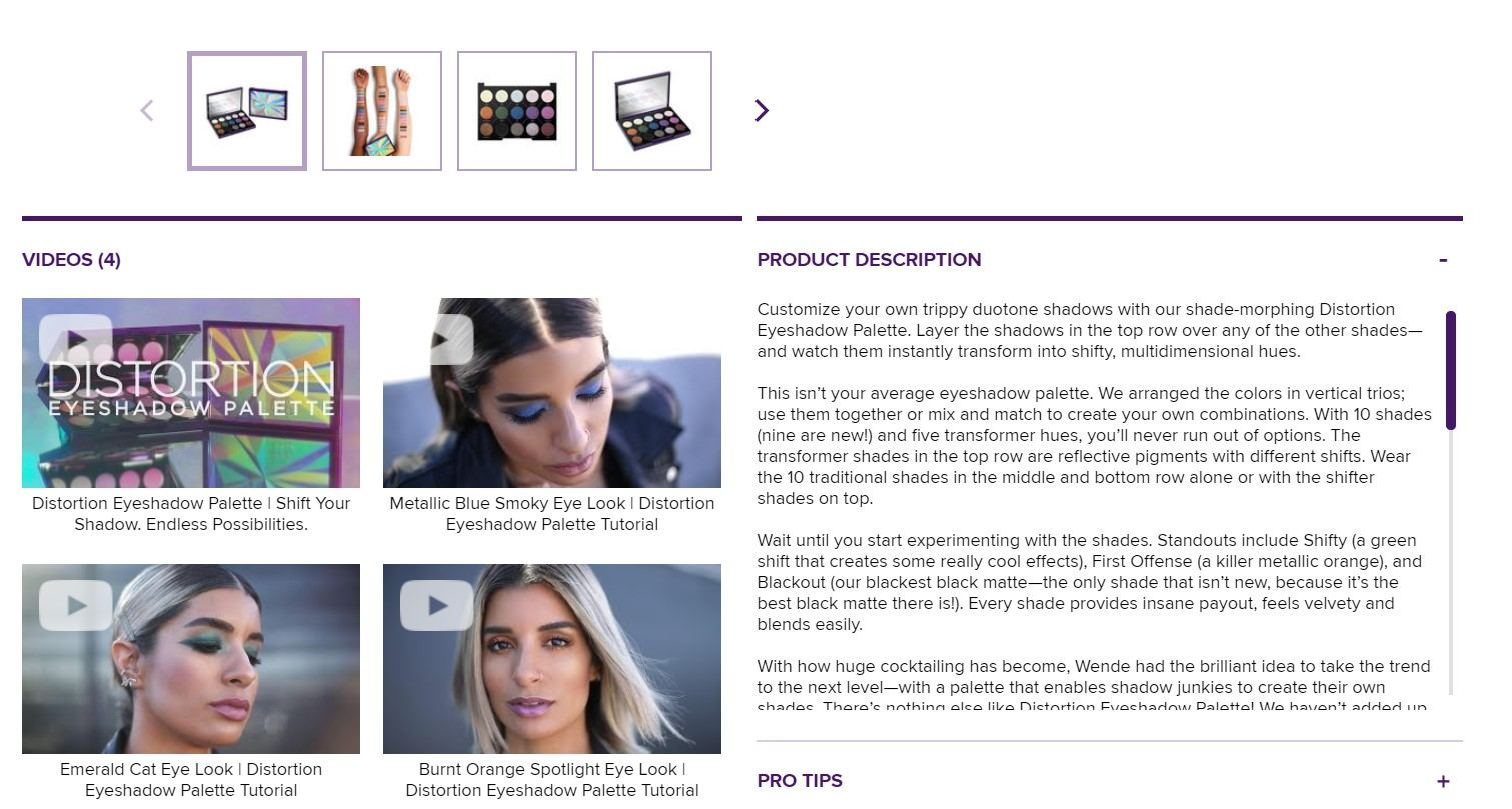 urban decay product page