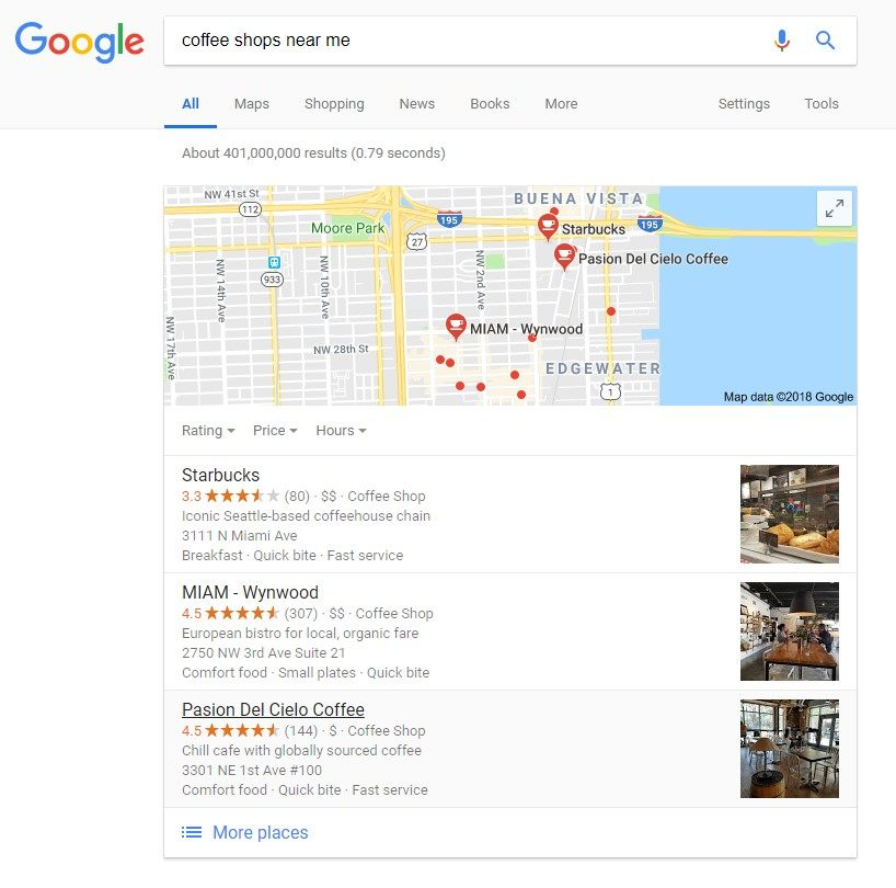 google local search query voice search
