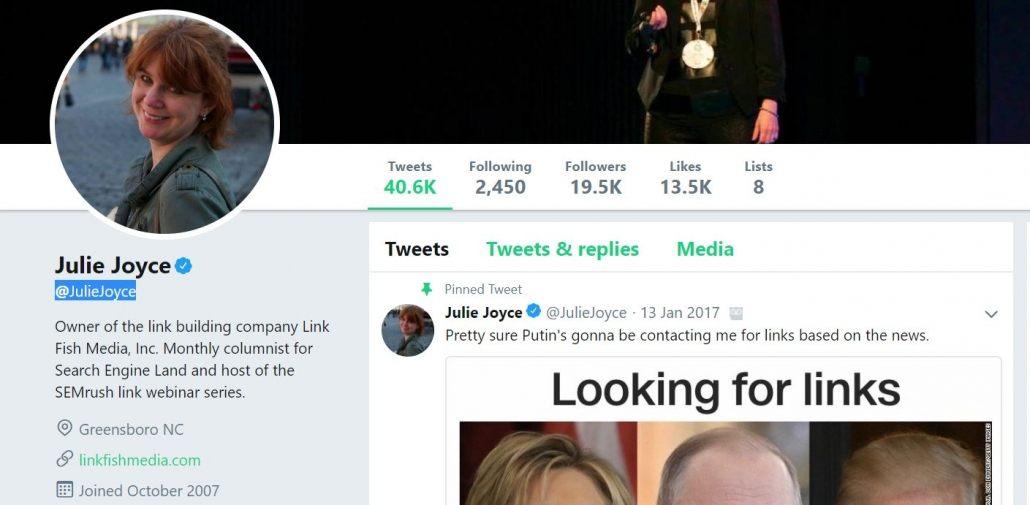 julie joyce twitter