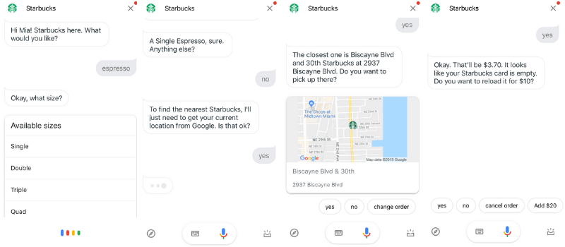 google assistant starbucks order