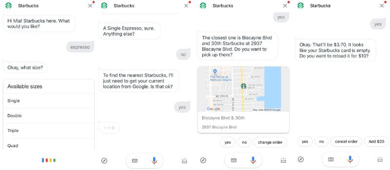 google assistant starbucks order