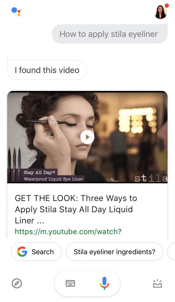 stila video google assistant
