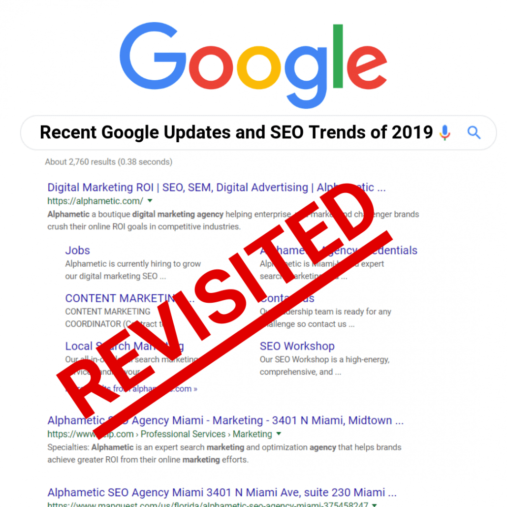 google updates and seo trends 2019