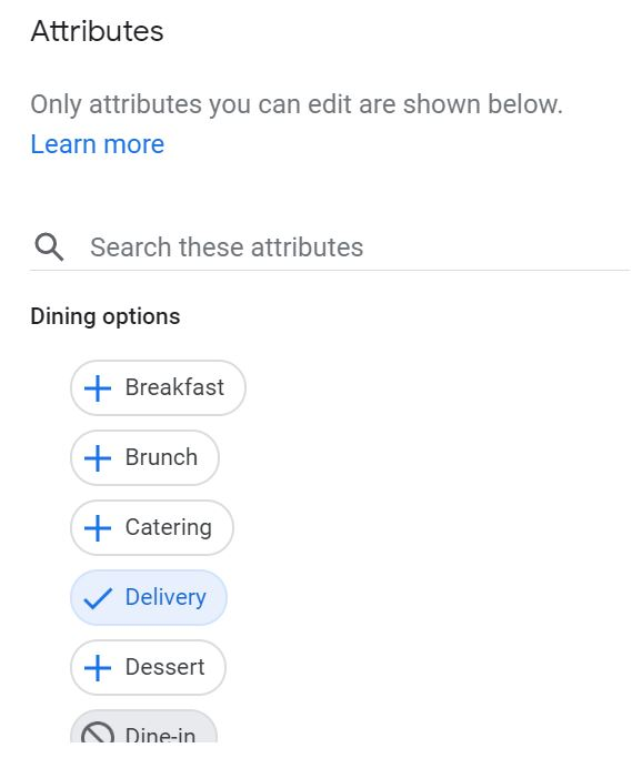 attributes GMB