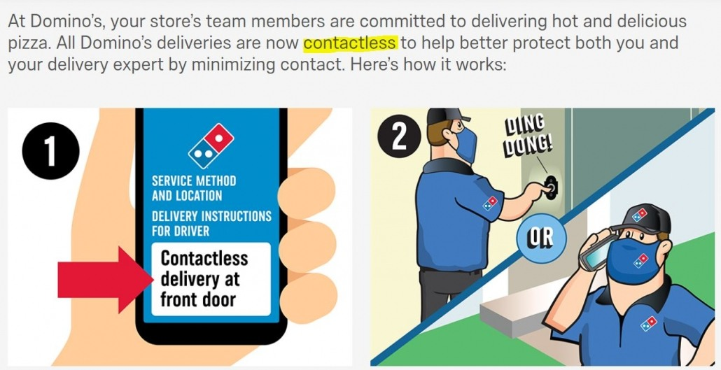 contactless dominos