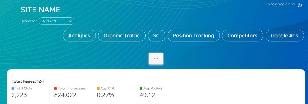 Marketing Dashboard tabs rank ranger